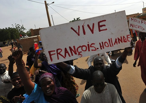 mali welcome to hollande in gao afp getty images